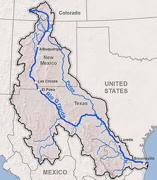 Figure 1. Map of the Rio Grande Basin.
